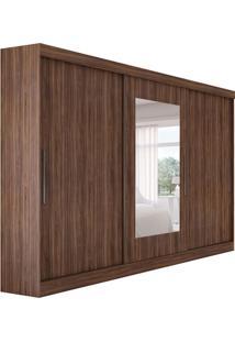Guarda-Roupa Casal Com Espelho Montebello 3 Pt 4 Gv Imbuia