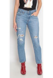 Jeans 501® Destroyed- Azullevis