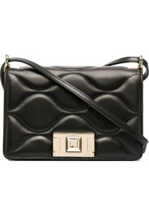Furla Quilted Leather Crossbody Bag - Preto