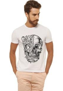 Camiseta Joss - Caveira Duas Caras - Masculina - Masculino-Branco