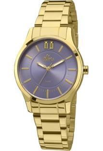 Relógio Allora Simples Encontro - Feminino-Dourado
