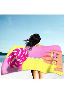 Toalha De Praia / Banho Hand Candy Loly Pop