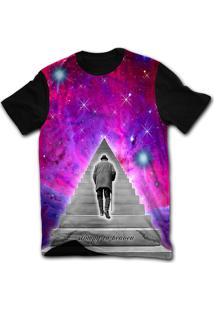 Camiseta Manga Curta Stompy Psicodelica 63 Preto