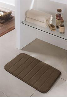 Tapete De Banheiro Super Soft Marrom Chocolate 60X40Cm
