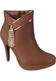 Bota Ankle Boot Meia Pata Via Marte