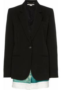 Stella Mccartney Blazer De Lã Com Recortes - Preto