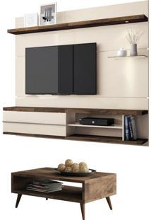 Painel Tv Épic Com Mesa De Centro Lucy Deck/Off White - Hb Móveis