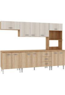 Cozinha Compacta Com Tampo Fellicci Master, 11 Portas, 3 Gavetas - 03