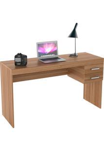 Mesa Para Escritório Com 2 Gavetas Bliv - Castanho