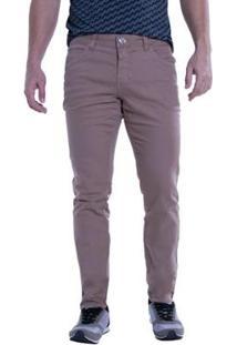 Calça Jeans Denuncia Skinny Masculina - Masculino-Bege Escuro