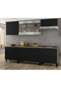 Cozinha Compacta Itamaxi 11 Pt 3 Gv Preta E Castanho