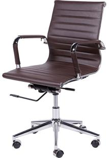 Cadeira Office Eames Esteirinha Baixa Giratória Or-3301 – Or Design - Café