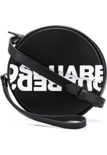 Dsquared2 Bolsa Transversal Com Logo - Preto