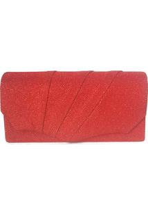 Clutch Bolsine Núbia Vermelha