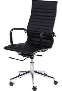 Cadeira Office Eames Esteirinha- Preta- 110X61X46,5Cor Design