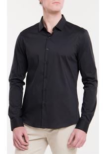 Camisa Slim Cannes Toque Suave - Preto - 2