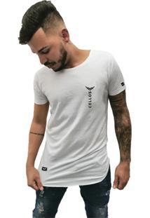 Camiseta Longline Cellos Vertical Premium Branco