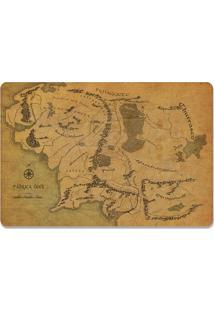 Jogo Americano Mapa (2 Peças) Geek10 Bege