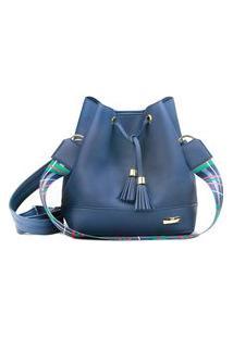 Bolsa Demari Bucket Bag Azul Marinho