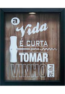 Quadro Porta Rolhas 22X27 67285-Kapos - Preto