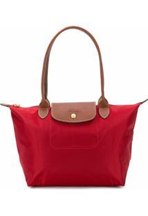 Longchamp Bolsa Tote Le Pliage Pequena - Vermelho