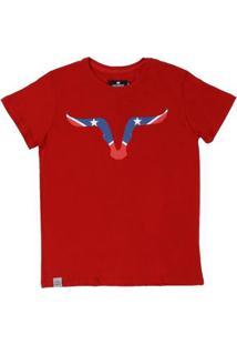 Camiseta Old West 21739 Masculina - Masculino-Vermelho