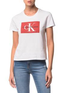 Blusa Ckj Fem Logo - Branco 2 - G