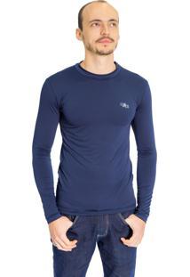 Camiseta Térmica Manga Longa Azul Marinho