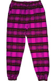 Calça Alkary Jogger Xadrez Pink