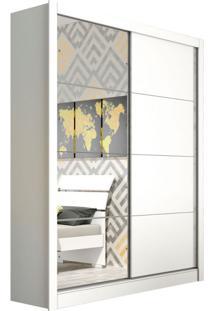 Guarda-Roupa Casal Com Espelho Platinium 2 Pt Neve