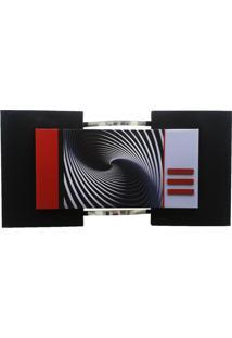 Quadro Geométrico Preto 60X115Cm