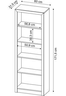 Estante Para Escritório Me4104 Tecno Mobili Branco