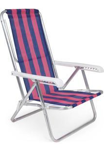 Cadeira Reclinável Alumínio 8 Posições 2231 Mor