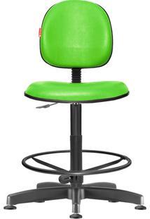 Cadeira Caixa Alta Executiva Giratória Courvin Verde Limão