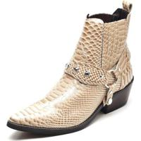 Bota Couro Country Top Franca Shoes Masculino - Masculino-Bege 69abc9037eb