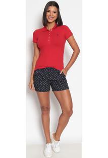 Polo Lisa Em Piquãª- Vermelhaus Polo