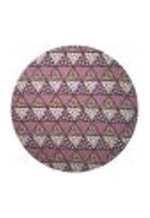 Sousplat Para Prato Suporte De Mesa Decorativo Rosa Mosaico 30 Cm - D'Rossi