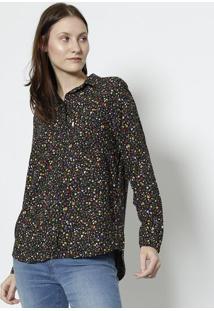 Camisa Floral - Preta & Amarelalevis