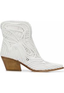 Le Silla Ankle Boot Charlize Com Salto Bloco - Branco