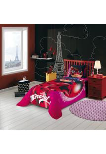 Jogo De Cama Solteiro Estampado Ladybug 1,50 M X 2,10 M Com 2 Peças Lepper Vermelha
