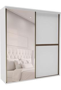 Guarda-Roupa Casal Com Espelho Sofisticato 2 Pt 3 Gv Branco