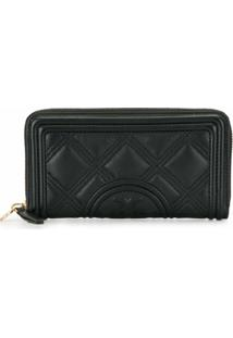 Tory Burch Carteira Fleming Matelassê - Preto