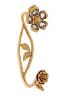 Versace Pulseira Com Flores - Dourado
