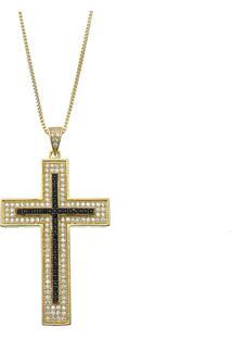 Colar Le Diamond Cruz Dourado - Tricae