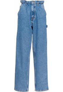 Miu Miu Calça Jeans Boyfriend Cintura Alta - Azul