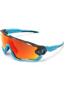 Óculos De Sol Oakley Jawbreaker Azul/Vermelho