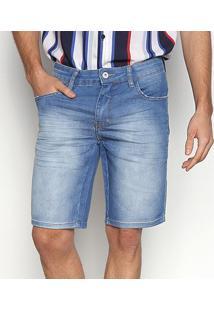 Bermuda Jeans Triton Yuri Masculina - Masculino-Azul