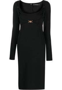 Versace Vestido Midi Medusa - Preto