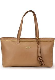 Bolsa Shopping Bag Lara Em Couro