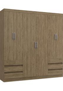 Guarda-Roupa Casal 6 Portas 6 Gavetas Safira Decibal Moveis Wood